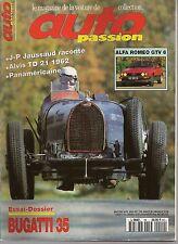 AUTO PASSION 99 BUGATTI 35 ALFA ROMEO GTV6 RR PHANTOM 1929 ALVIS TD 21 1962