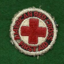 "VINTAGE  BOY SCOUT - RED CROSS FIRST AID PATCH 1 1/2"" - ARC"