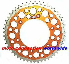 Renthal TWINRING Rear Sprocket 50 T Silver/Orange KTM SX 125 150 250 SXF 98-17