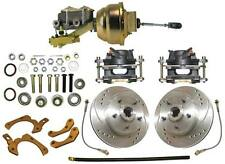1959-1964 GM Chevrolet Front Disc Brake Conversion Kit Drilled & Slotted Rotors