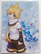 Kagamine Len postcard Snowmiku sky town Hokkaido Japan vocaloid snow Len