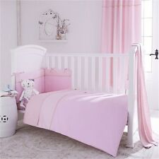 Izziwotnot Cotbed 5 piece Quilt bedding bale & curtains Pink Girls nursery