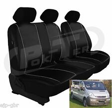 For Vauxhall VIVARO to Bj. 14 high quality,custom-fit Seat covers LEATHER LOOK