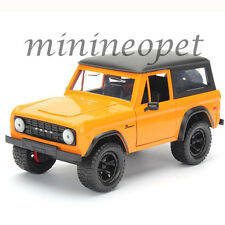 JADA 97824 JUST TRUCK 1973 FORD BRONCO 1/24 DIECAST MODEL CAR ORANGE