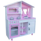 Classy Tot Kids Kitchen Pink Large Wooden Play Kitchen Toy