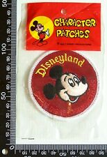 VINTAGE WALT DISNEY MICKEY MOUSE EMBROIDERED PATCH WOVEN CLOTH SEW-ON BADGE