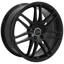 "18"" Wheels For Audi A3 VW GTI GOLF MK5 MK6 18X8.0 et 42 5X112 Black Rims Set (4)"