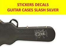 SLASH GUNS N'ROSES SILVER STICKER GUITAR CASES VISIT MY STORE FOR CUSTOM GUITARS