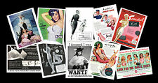 Vintage Lingerie Adverts Retro Images on Postcards, Set of Ten re-prints vol 2