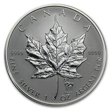 2004 Canada 1 oz Silver Maple Leaf Aries Zodiac Privy - SKU #60983