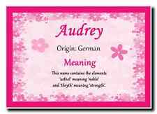 Audrey Personalised Name Meaning Jumbo Magnet