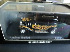 "Minichamps 1/43 American Hot Rod ""black with flames"""