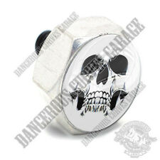 Polished Billet Hex Air Cleaner Cover Bolt - Twin Cam Touring GHOST SKULL BLACK
