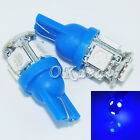 2pcs Blue Super Bright T10 194 168 Amber 5 SMD 5050 LED Wedge Bulb Light Lamp
