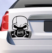 Seat skull piston gas mask car vinyl sticker decal leon ibiza cupra altea uk