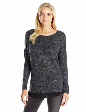 New Blue JESSICA SIMPSON UK10 Size S Knitted Embellished Lash Sweater Jumper $89