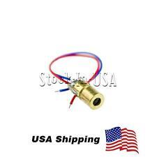 10PCS 5V 650nm 5mW Laser Red Dot Module sight Laser Diode Laser pointer