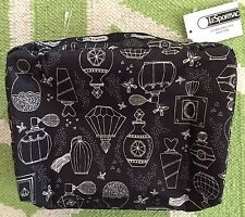 NWT Lesportsac Sweet Essence XL Extra large Rectangular Cosmetic Bag Perfume