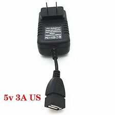 5V 3A 3000mA US AC / DC USB Power Supply Adapter Charger Tablet PC Cell Phone