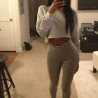 High Waist Slim Skinny Women Sexy Leggings Striped Stretch Jeggings Pencil Pants