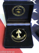 "Central Intelligence Agency,""Covert Mission  Medal""  2"" 3D w/LogoPresentaton Box"
