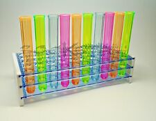 Plastic Bar Shot Glass Test Tube Rack- 50 Jager Shot Shooter Holder Clear Color