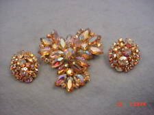 Vintage Juliana  Rhinestone Pin & Earring Set