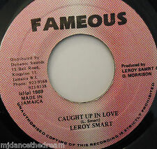 "LEROY SMART - Caught Up In Love - 7"" Single JA PRESS"