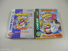 Game Boy Color Wario Land 2 and 3 w/ Box Good condition import Japan