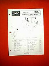 TORO REAR ENGINE RIDER EASY EMPTY GRASS CATCHER BAGGER MODEL 59046 PARTS MANUAL