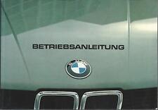 BMW 5er Betriebsanleitung 1981 E28 inkl.Scheckheft Bedienungsanleitung BA