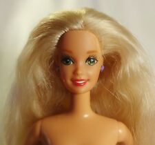 90s Talking Barbie Doll Blonde Green eyes Twist&Turn model Bendable legs Nude