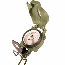 NEW Cammenga 3H Tritium Compass Olive Drab with Lanyard - MILITARY ISSUE !!