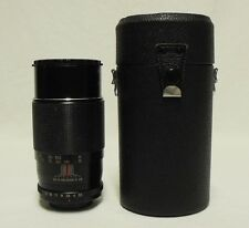 FORTRON f/3.5 200mm Telephoto Lens SLR Film Camera DSLR M42 Pentax Screw w/Case