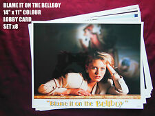 RARE 14x11 ULTRA GLOSSY US LOBBY CARDSx8- BLAME IT ON THE BELLBOY - PATSY KENSIT