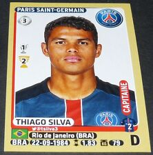 N°346 THIAGO SILVA BRASIL PARIS SAINT-GERMAIN PSG PANINI FOOTBALL FOOT 2015-2016