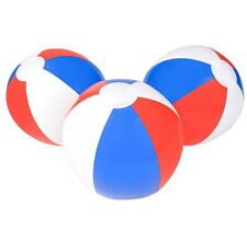 "WHOLESALE LOT 48  BEACH BALLS 16"" BEACHBALL BALL POOL PARTY RED WHITE BLUE"