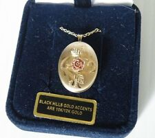 "COLEMAN CCO BLACK HILLS 14K GOLD FILLED LOCKET WITH 10K SOLID GOLD 19"" CHAIN"