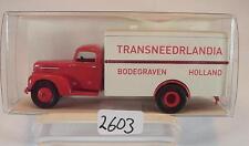Brekina 1/87 49007 Ford FK 3500 LKW Koffer Transneedrlandia Niederlande OVP#2603
