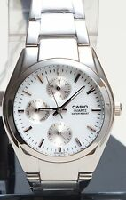 Casio MTP1191A-7A Men's Watch Steel Band Analog Dress Day & Date Display New