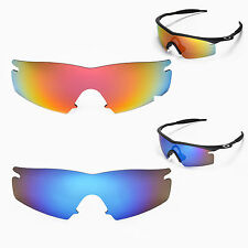 New Walleva Polarized Fire Red + Ice Blue Lenses For Oakley M Frame Strike
