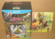Wii U Legend of Zelda Twilight Princess HD Amiibo Bundle + Soundtrack New Sealed