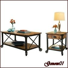 Rustic Coffee Table Set Wood Vintage Country Loft Furniture Modern Furniture NEW
