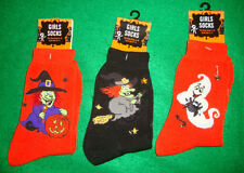HALLOWEEN~girl's~3/PAIR/BEAUTIFUL/SOCKS! (9~11) N/W/TAGS! @@ NICE! Free/Ship!
