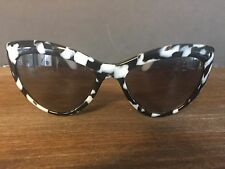 NEW AUTHENTIC MIU MIU SMU Black/white Tortise Cat Eye Sunglasses .  New