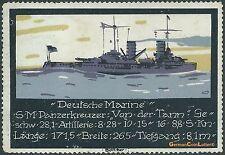 """La publicidad marca serie 1. - Deutsche Marine, entw.: tonelero, """"de la Tann"""" (#25826)"""