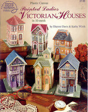 Painted Ladies Victorian Houses ~ soft cover plastic canvas book   ~