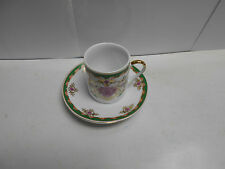 Holsted House Demi-Tasse Ceramic Cup & Saucer Mini Set. NB2