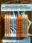 24 ANIMAL PRINT BIRTHDAY CANDLES BIRTHDAY CAKES & PARTY DECORATIONS 24 COUNT