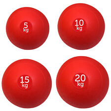 SET OF 4 RED FXR SPORTS NO BOUNCE SLAM BALLS BALL FITNESS GYM (5, 10, 15 & 20KG)